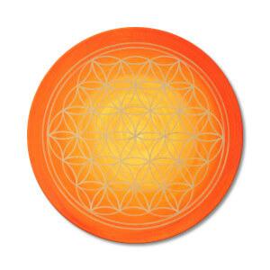 Blume des Lebens spirituelle Bedeutung_orange_Energiebild