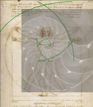 Heilige Geometrie Goldener Schnitt - Fibonacci Spirale