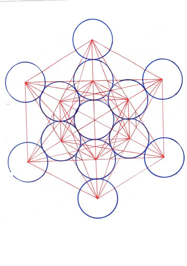 Würfel des Metatron selbst gezeichnet